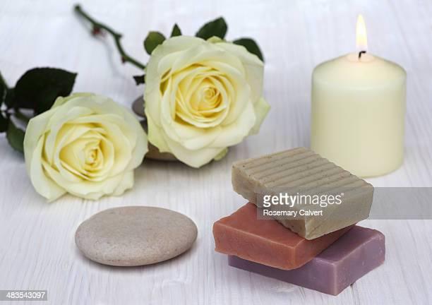 Soap in preparation for body care.