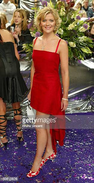 Soap star and actress Jane Danson arrives at the sixth annual 'British Soap Awards 2004' on May 8 2004 at BBC Television Centre in London