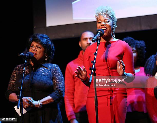 SoaraJoye Ross performs onstage at 'The First Noel' Sneak Peek at The Apollo Theater on November 16 2016 in New York City