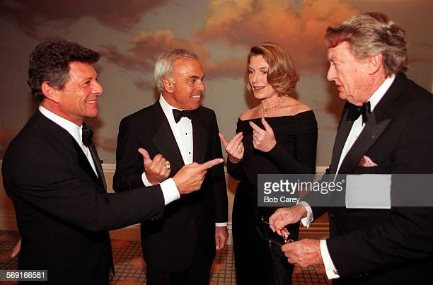 SOArthritis11111BCH –– From left Frankie Avalon Angelo Mozilo Susan Sullivan and Tom Poston chat before the 50th Anniversary Arthritis Foundation...