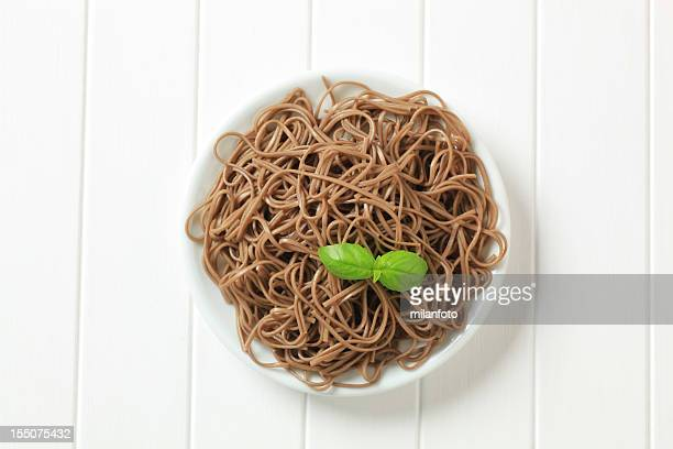 soba noodles - soba stock pictures, royalty-free photos & images