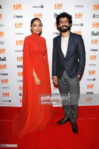 """Sobhita Dhulipala and Roshan Mathew attend the """"The Elder One"""" photo call during the 2019 Toronto International Film Festival at Winter Garden..."""
