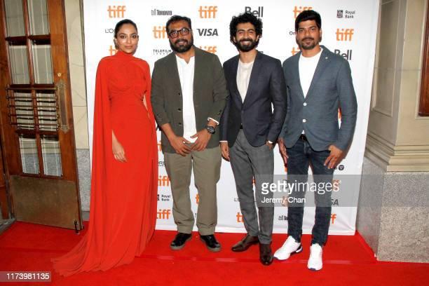 "Sobhita Dhulipala, Anurag Kashyap, Roshan Mathew, and S. Vinod Kumar attend the ""The Elder One"" photo call during the 2019 Toronto International Film..."