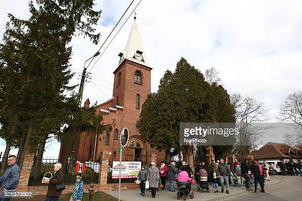 Sobowidz Poland 4th April 2015 Swieconka the tradition of food blessing at Easter is one of the most enduring and beloved Polish traditions on Holy...
