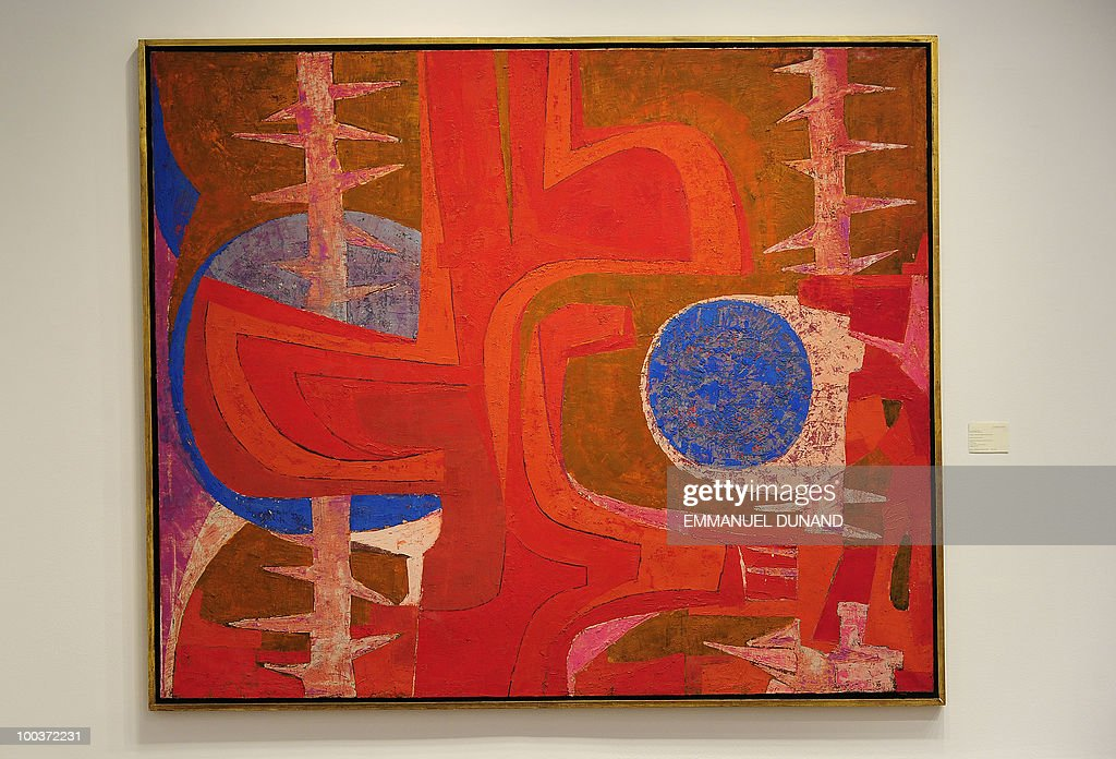 'Sobre la Tumba de Justino' by Pedro Cronel is on display during a preview of Christie's Latin American Art auctions, May 24, 2010 in New York. Christie's will hold its Latin American Art auctions on May 26 and 27, 2010. AFP PHOTO/Emmanuel Dunand