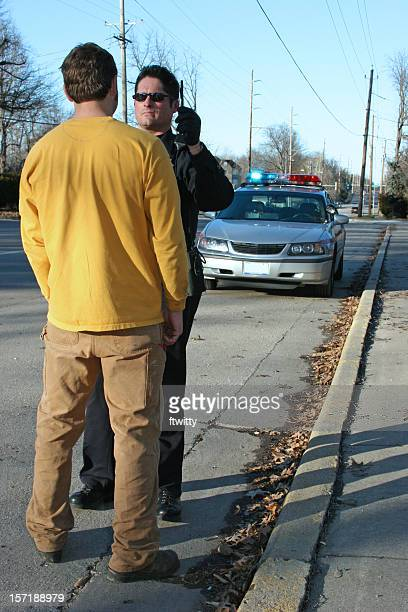 sobriety test full body - drunk driving stock photos and pictures