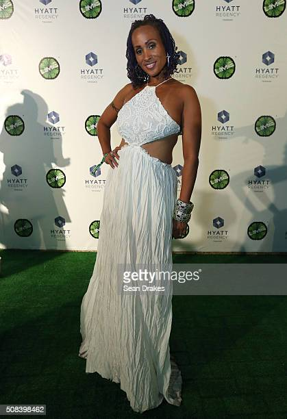 Soca artist Alison Hinds of Barbados poses for pictures during the Hyatt LIME fete at Hyatt Regency Trinidad as part of Trinidad and Tobago Carnival...