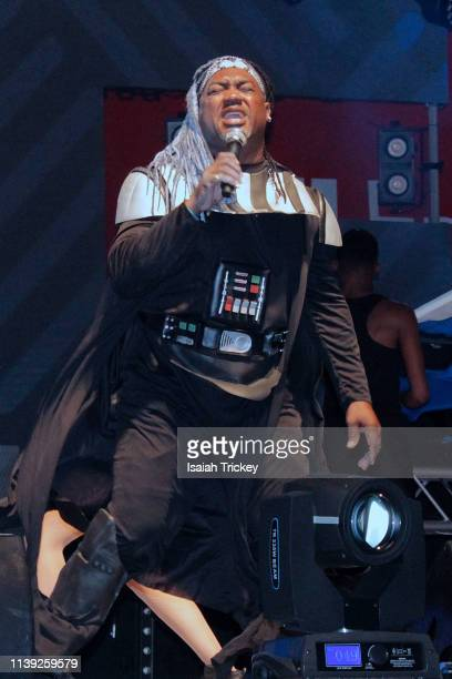 Soca artist Ricky Da Fox competes in the Power category of Soca Ramble during St Maarten Carnival at The St Maarten Festival Village on April 24 2019...