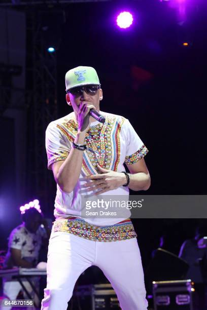 Soca artist Rupee of Barbados performs at the 7th annual Hyatt LIME Carnival Fete featuring musicians Kes MX Prime Ultimate Rejects Bunji Garlin and...