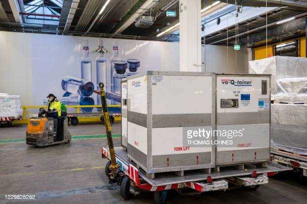 So-called 'va-Q-tainer', an advanced passive container for the global transportation of clinical and pharmaceutical goods, is pictured at the...