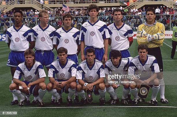 Soccer 1990 World Cup Portrait of Team USA before game vs Czechoslovakia Florence ITA 6/10/1990