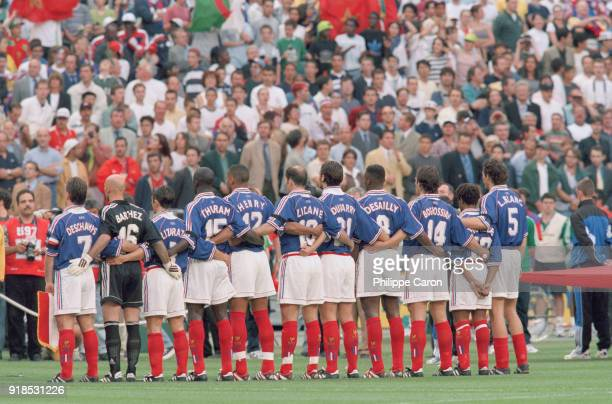 Soccer 1998 World Cup French soccer team before France Vs Saudi Arabia match