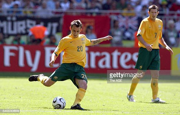 Soccer 2006 Australia's Luke Wilkshire in action during the World Cup match between Australia and Japan in Kaiserslautern 12 June 2006 THE AGE...