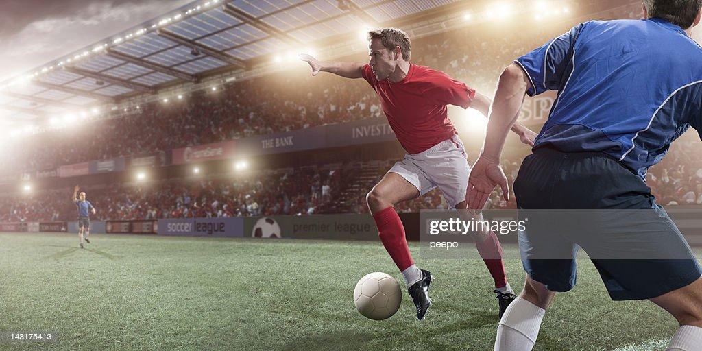 Soccer Action : Stockfoto