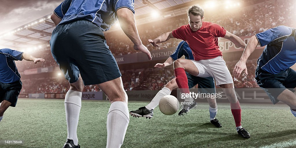 Soccer Action : Stock Photo