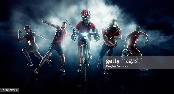 soccer, american football, javelin, cycle, athletics - athletics stock photos and pictures