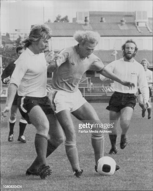 Soccer Ampol Cup Grand Final at Wentworth Park won by Western Suburbs Peter Wilson Agenor Muniz March 13 1976