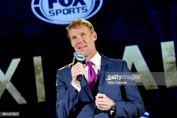 Soccer analyst Alexi Lalas speaking at FOX Sports 2018 FIFA World Cup Celebration on September 26 2017 at ArtBeam in New York City