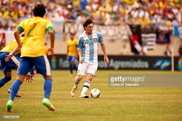 Argentina Lionel Messi In Action During International Friendly Vs Brazil At Metlife Stadium East Rutherford Nj