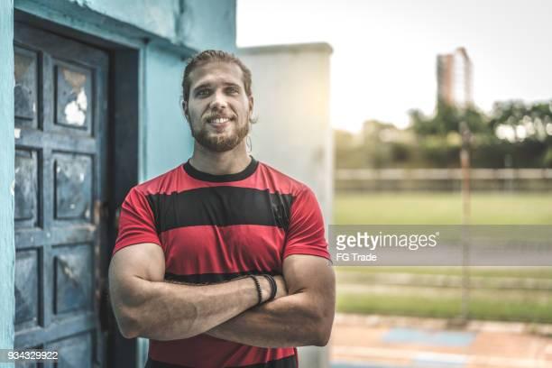 Fußball Athlet Mann Porträt