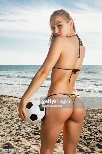 soccer babe - beautiful female bottoms stock photos and pictures