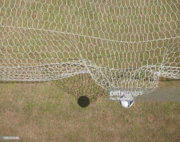 Soccer ball und das Ziel