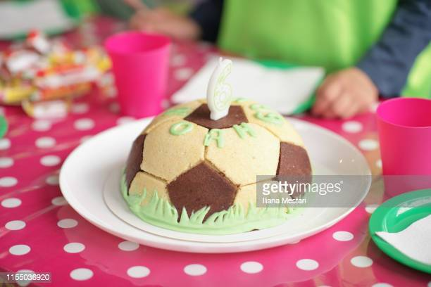 Fantastic Football Birthday Cake Stock Pictures Royalty Free Photos Personalised Birthday Cards Veneteletsinfo
