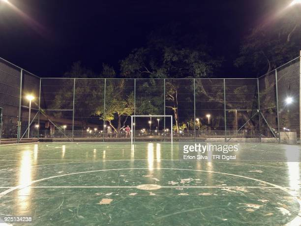 soccer ball court - floodlit stock pictures, royalty-free photos & images