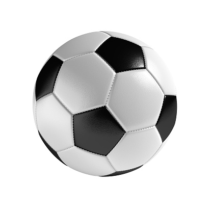 Soccer ball isolated on the white background 610241662