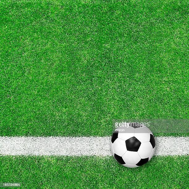 Fußball ball auf grünem Gras