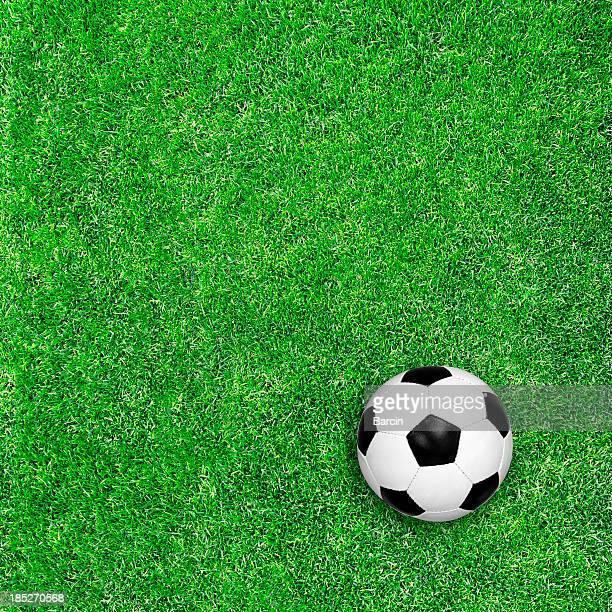 Bola de Futebol na relva verde