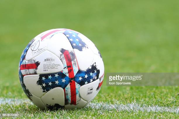 Soccer Ball on the field during the first half of the MLS Soccer game between the New York Red Bulls and Real Salt Lake on March 25 at Red Bull Arena...