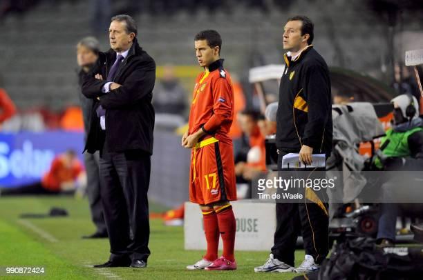 Belgium Austriageorges Leekens Coach Trainer Entraineur Eden Hazard / Marc Wilmots / Uefa Euro 2012 Qualification Autriche Oostenrijk / Tim De Waele