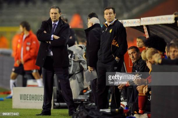 Belgium Austriageorges Leekens / Marc Wilmots / Filip Van De Walle / Coach Trainer Entraineur /Uefa Euro 2012 Qualification Autriche Oostenrijk / Tim...