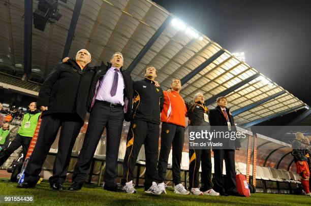 Belgium Austriageorges Leekens / Marc Wilmots / Filip Van De Walle / Trainer Entraineur Uefa Euro 2012 Qualification Autriche Oostenrijk / Tim De...