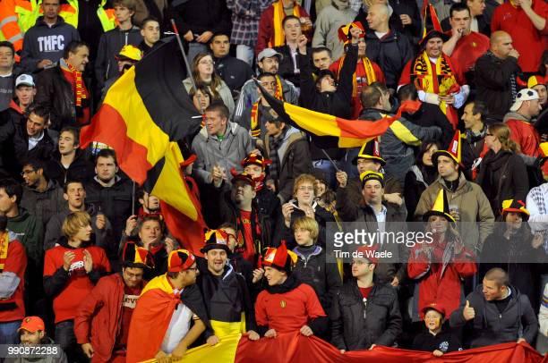 Belgium Austriaillustration Illustratie Belgian Fans Supporters Public Publiek Uefa Euro 2012 Qualification Autriche Oostenrijk / Tim De Waele