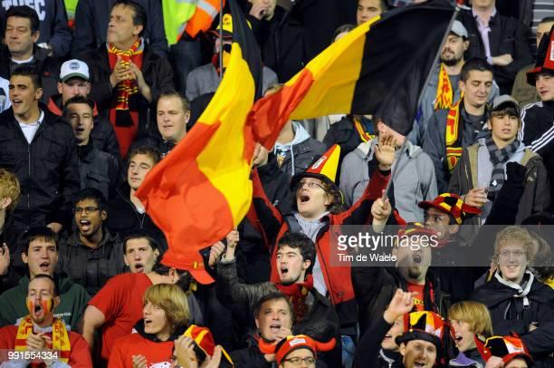 Belgium Austriaillustration Illustratie Supporters Fans Public Publiek Spectators Uefa Euro 2012 Qualification Autriche Oostenrijk / Tim De Waele