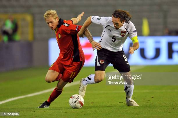 Belgium Austriajonathan Legear / Christian Fuchs / Uefa Euro 2012 Qualification Autriche Oostenrijk / Tim De Waele