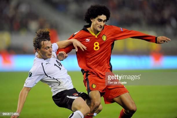Belgium Austriamarouane Fellaini / Julian Baumgartlinger / Uefa Euro 2012 Qualification Autriche Oostenrijk / Tim De Waele