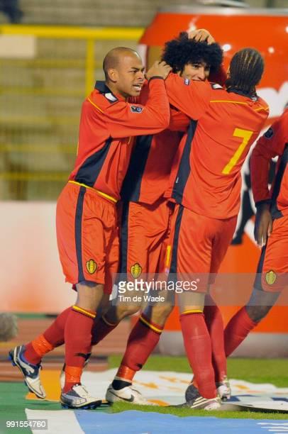 Belgium Austriamarouane Fellaini / Marvin Ogunjimi / Celebration Joie Vreugde Uefa Euro 2012 Qualification Autriche Oostenrijk / Tim De Waele