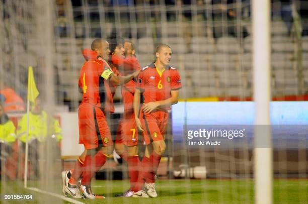Belgium Austriamarouane Fellaini / Vincent Kompany / Timmy Simons / Celebration Joie Vreugde Uefa Euro 2012 Qualification Autriche Oostenrijk / Tim...