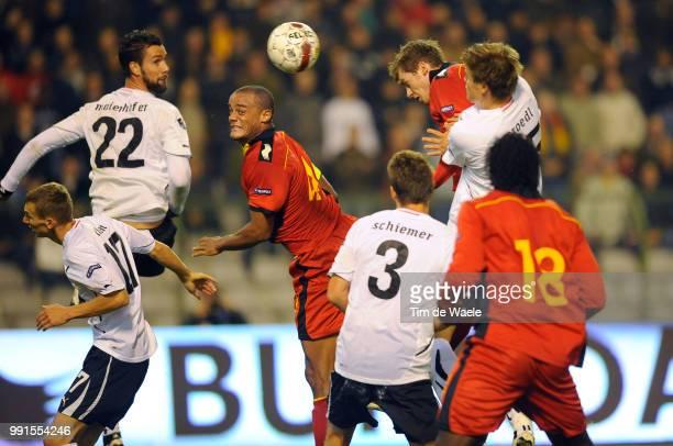 Belgium Austrianicolas Lombaerts / Vincent Kompany / Goal But Uefa Euro 2012 Qualification Autriche Oostenrijk / Tim De Waele
