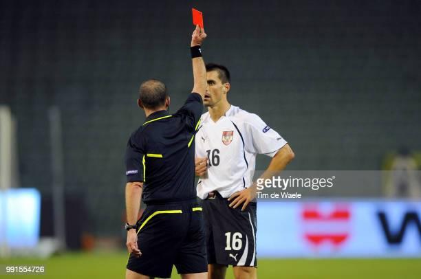 Belgium Austriapaul Schamer / Red Card Carte Rouge Rode Kaart Uefa Euro 2012 Qualification Autriche Oostenrijk / Tim De Waele