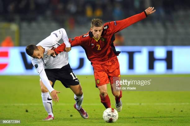 Belgium Austriatoby Alderweireld / Marko Amautovic / Uefa Euro 2012 Qualification Autriche Oostenrijk / Tim De Waele