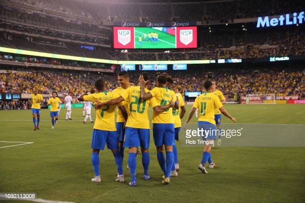 Brazil Thiago Silva victorious vs USA during Men's International Friendly at MetLife Stadium East Rutherford NJ CREDIT Rob Tringali