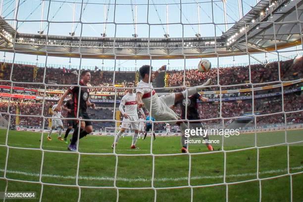 Bundesliga, 20th match day: Eintracht Frankfurt vs. VfB Stuttgart in the Commerzbank arena in Frankfurt , Germany, 6 February 2016. Stuttgart's...