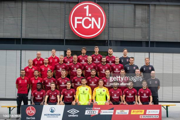 Photo shoot 1 FC Nuremberg for the 2018/19 season on 16 July 2018 in Nuremberg Germany Technique coach Nate Weiss goalkeeping coach Martin Scharrer...