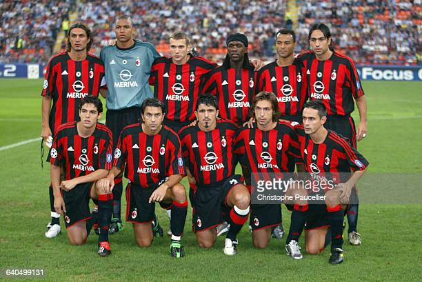 Soccer Champions League, First Round, Season 2003-2004 : AC Milan vs AFC Ajax. AC Milan team. Football, Ligue des Champions, 1er tour, Saison...