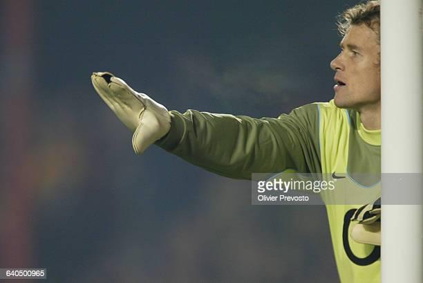 Soccer Champions League. Season 2003-2004. Arsenal FC vs FC Dynamo Kiev. Goalkeeper Jens Lehmann . Ligue des Champions de Football. Saison 2003-2004....
