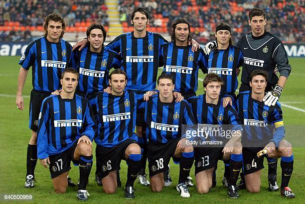 Soccer Champions League. Season 2003-2004. Group B. FC Inter Milan vs FC Lokomotiv Moscow. Team line-up . Ligue des Champions de Football. Saison...